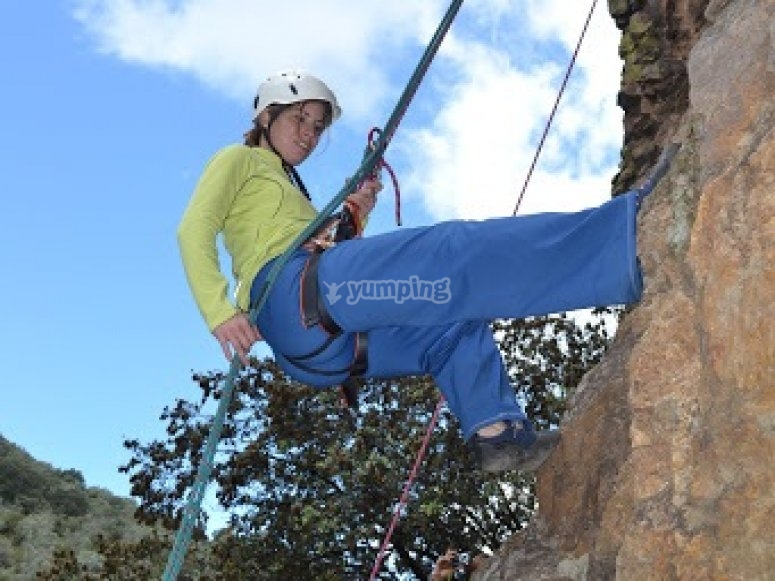Abseiling session