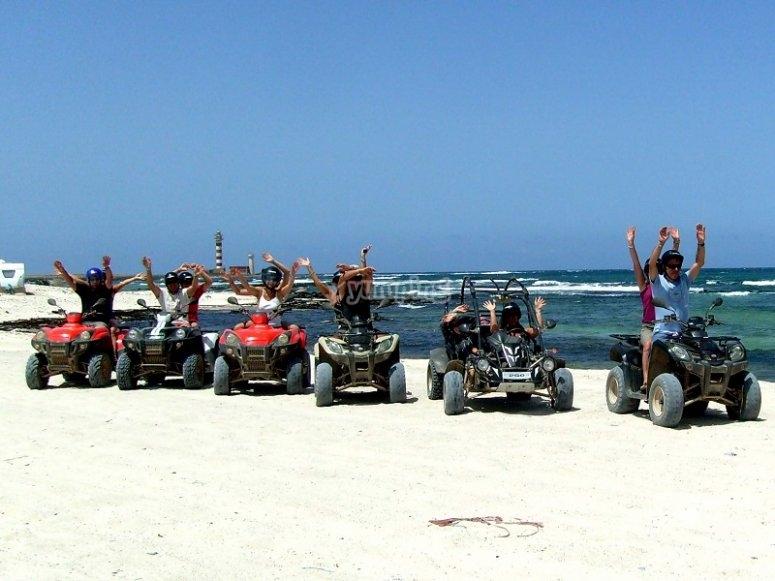 Grupo de quads en Fuerteventura
