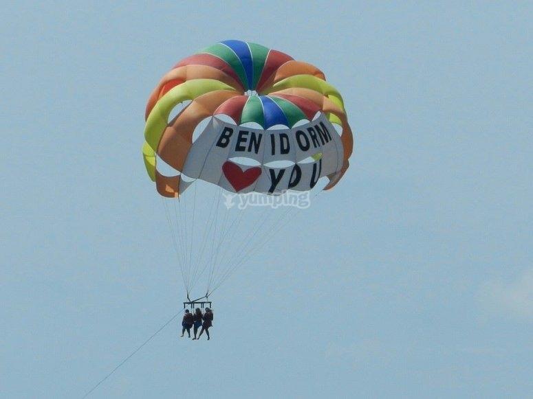 Parasailing in Benidorm