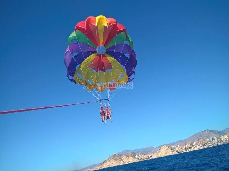 Flying over Benidorm