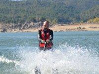 Probando el esquí acuático