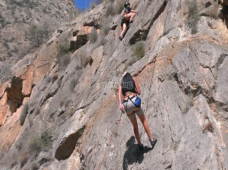 Sesión de escalada