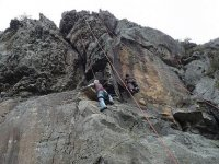 体育路线练习攀岩
