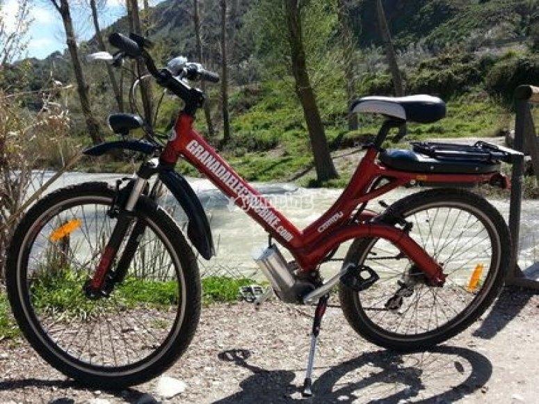 Una de las bicis eléctricas