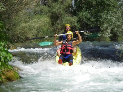 Kayak di acque bianche, Alto Guadiela, 1/2 giornata