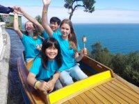 Alumnos internacionales en la barca
