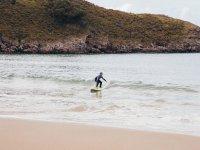 Surfing in Llanes