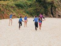 Calentamiento surf Llanes
