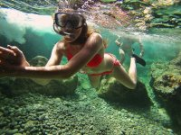 Paseo submarino de snorkel