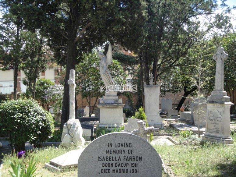 Lapidas del cementerio britanico
