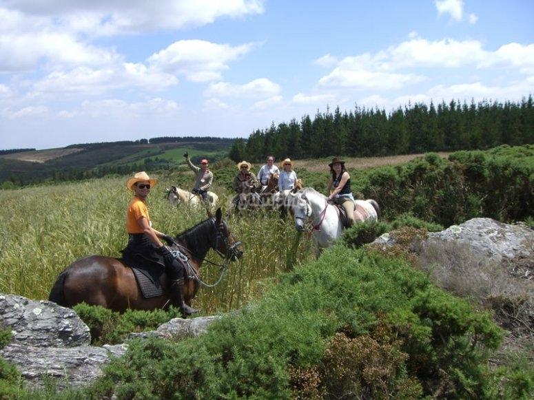 camino a caballo