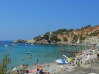 Boats on the beach in Ibiza