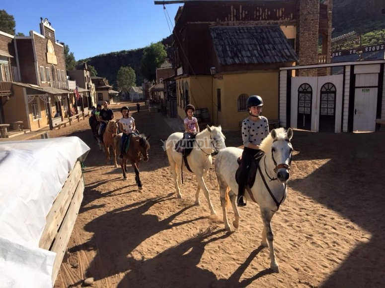 Admire the landscapes on horseback