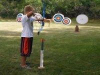 aiming at the targets