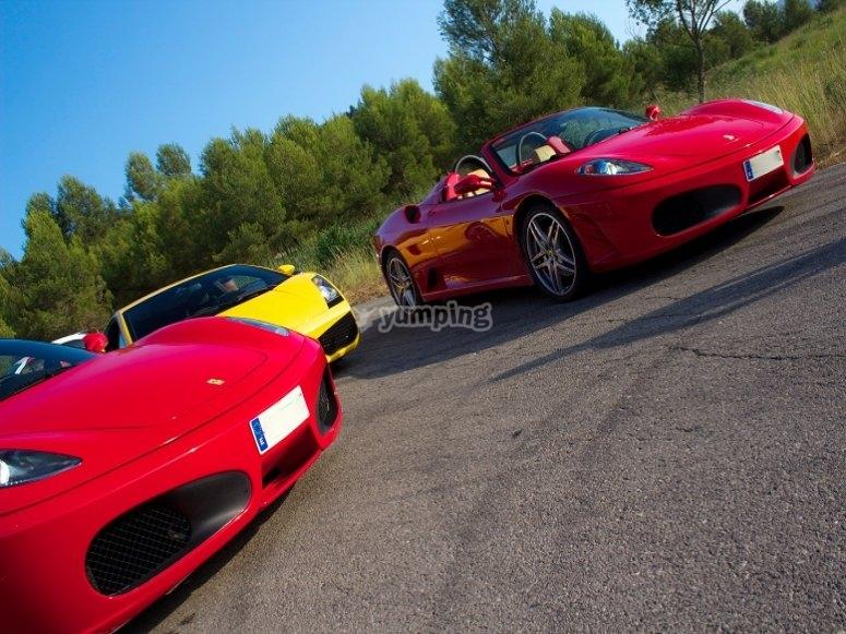 Ponte al volante del Ferrari