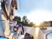 Al volante del kart