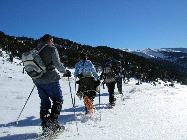 Paesaggi innevati in Andorra