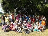 Colocando cajas nido con la Asociación de Diabeticos de Navarra.