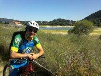 En la Marisma Joyel con la bicicleta