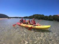 Partiendo con el kayak