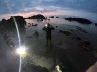 Expedición de buceo nocturna