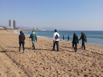 Nordic walking introduction in Barcelona 2 hours