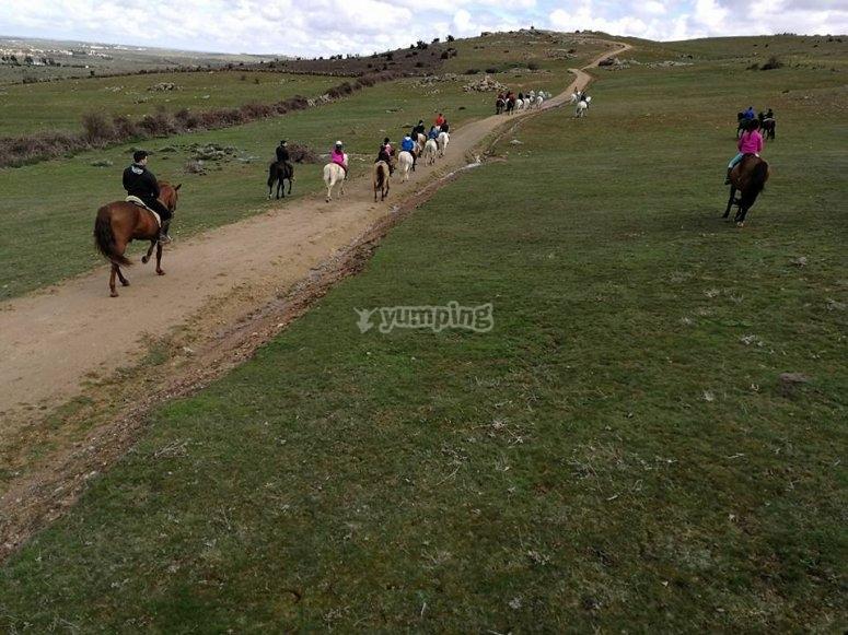 Recorre Segovia a caballo