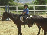 Sul dorso di un cavallo