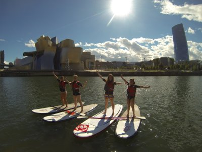 2h stand up paddle surfing tour, Estuary of Bilbao