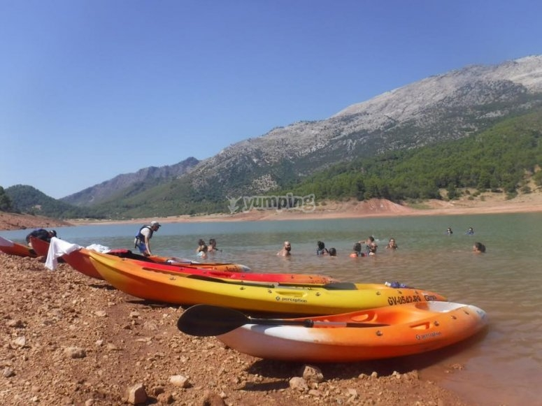 kayaks individuales y dobles