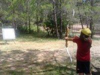 Practicando el tiro con arco