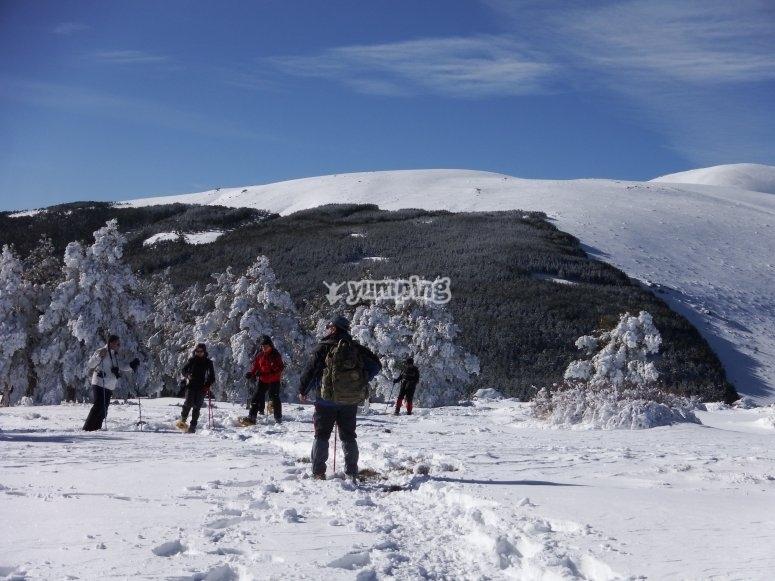 Ruta raquetas de nieve Sierra Mágina