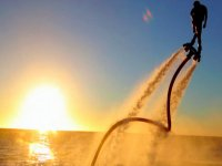 Sunset and Flyboard