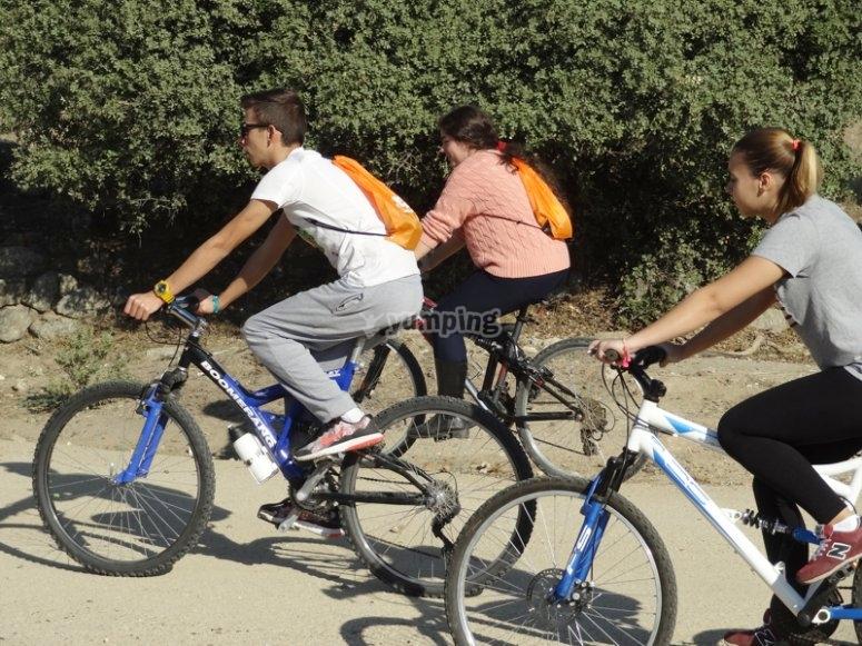 Utilizando las bicicletas
