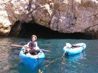 Llevando un kayak amarrado