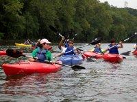 Percorso organizzato del kayak