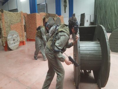 Indoor Paintball Madrid unlimited ammo 2 hours