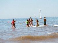 paddlesurf en el agua