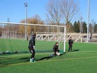 Practicando los goles