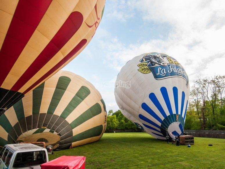 Preparación de los globos