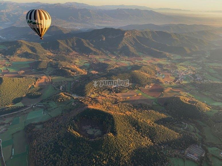 vuelo en globo en la garrotxa