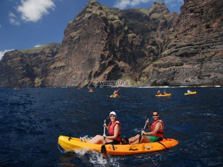 Trip with kayak