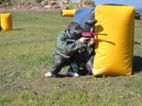 Shooting after inflatable obstacle
