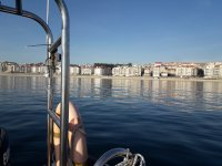 El mar como un plato en Sanxenxo