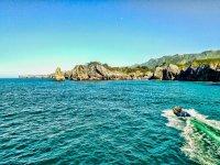 Navegando por el litoral de Ribadesella