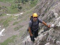 A break during the climb