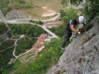 going up via ferrata