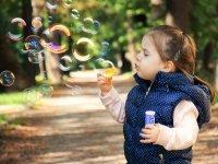 Juego con burbujas
