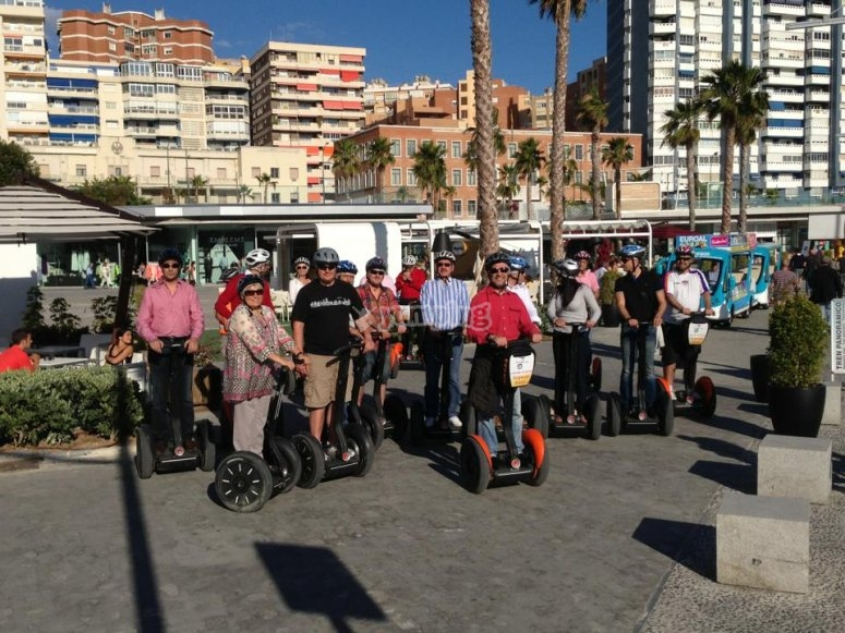 Complete route in segway