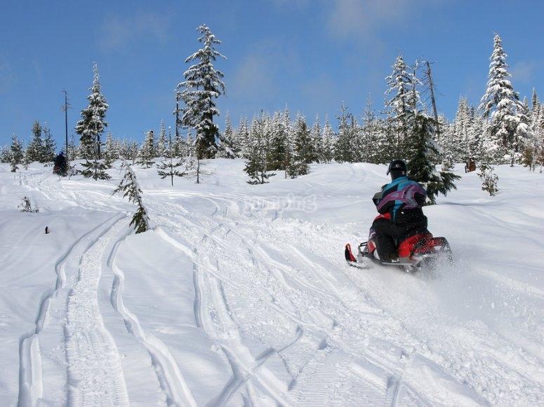 雪地车快来试试雪地车